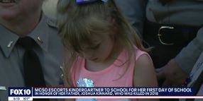 AZ LEOs Escort Fallen Deputy's Daughter to First Day of School