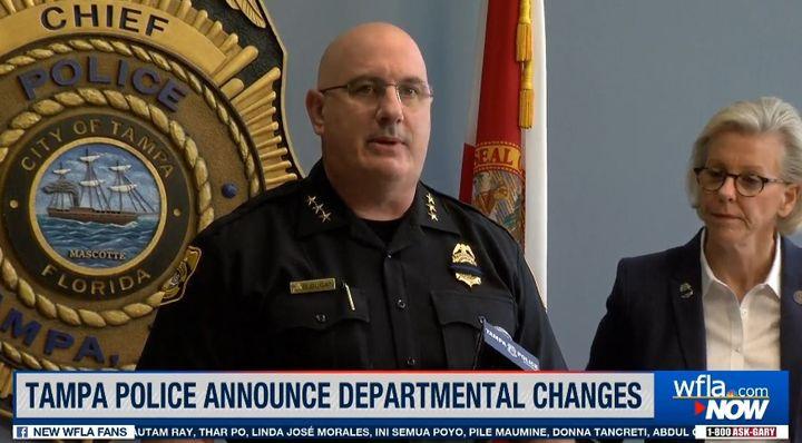 Tampa Chief Brian Dugan will retire in September. (Photo: WFLA Screen Shot) -