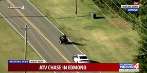Handcuffed Suspect on ATV Leads OK Officers on High-Speed Chase