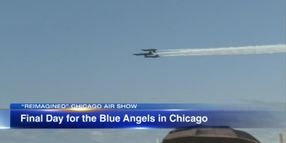 Blue Angels Fly Chicago Show Carrying Badge of Slain Officer