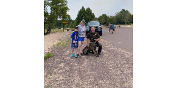 Keweenaw County (MI) Sheriff's Office K-9 Dogo and his handler Sergeant Pelli helped a woman...