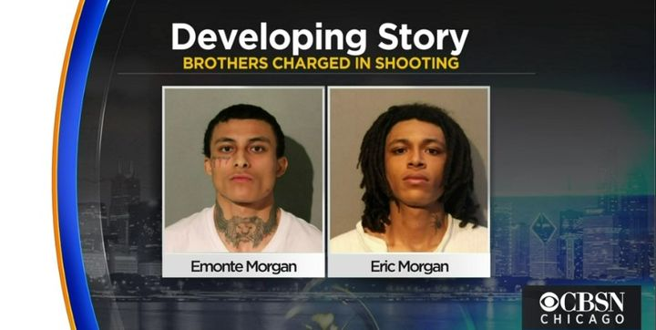 Emonte Morgan and Eric Morgan are being held without bail. (Photo: CBS Chicago Screen Shot) -