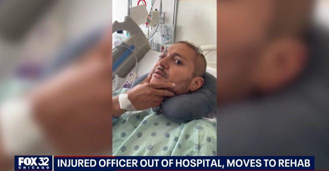 Wounded Partner of Slain Chicago Officer Leaves Hospital for Rehab