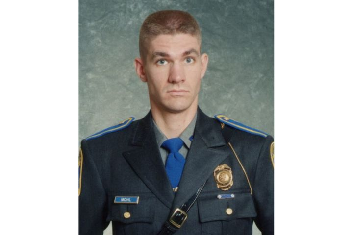 Connecticut State Police Sergeant Brian Mohl was killed early Thursday when his patrol vehicle was swept into a river by hurricane flooding. (Photo: Connecticut State Police) -