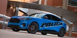 Ford is reportedly sending a police version of the Mustang Mach-E electric vehicle for Michigan State Police testing. (Photo: Ford)