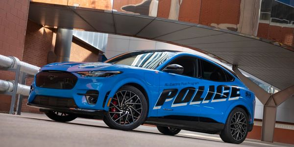 Ford is reportedly sending a police version of the Mustang Mach-E electric vehicle for Michigan...
