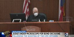 """Judge Greg Glass lowered the bond on accused cop killerDeon Ledet in November. Ledet reportedly shot and killedSr. Police Officer William """"Bill"""" Jeffrey and was killed when officers returned fire. (Photo: Click2Houston screen shot)"""