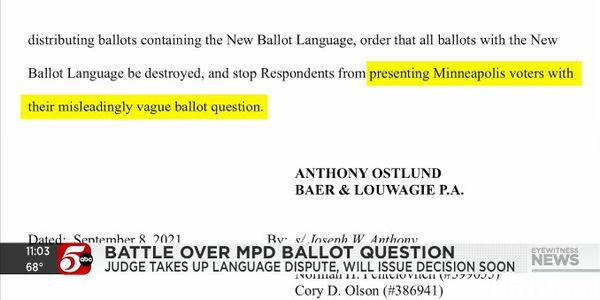 Group Sues Saying Minneapolis Disband the Police Ballot Question is Too Vague