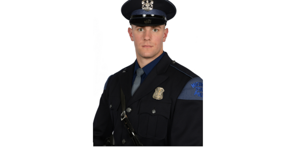Trooper Jacob Strong of the Michigan State Police rescued a hospice patient from a burning home...