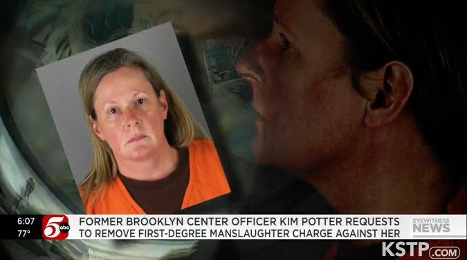 Former Brooklyn Center, MN, officer Kim Potter faces first- and second-degree manslaughter charges in the April shooting of Daunte Wright. (Photo: KTSP screen shot) -