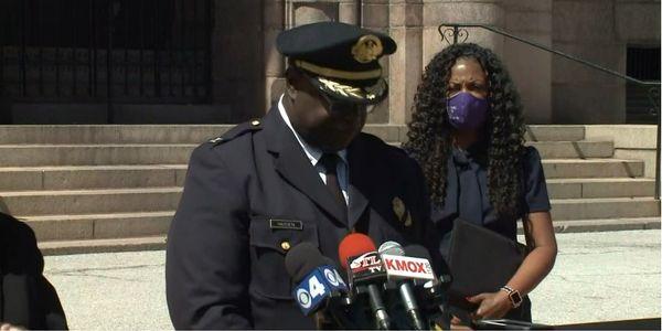 St. Louis Police ChiefJohn Hayden announces his retirement. (Photo: KSDK screen shot)