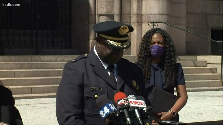 St. Louis Police ChiefJohn Hayden announces his retirement. (Photo: KSDK screen shot) -