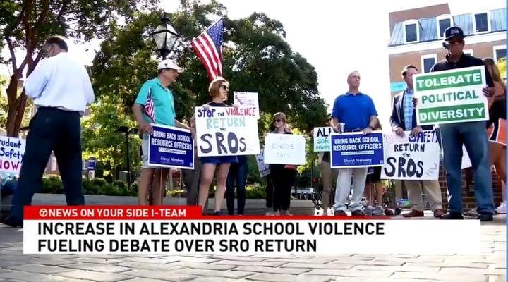 Parents and even some school officials want the return of SROs to schools in Alexandria, VA. (Photo: WJLA screen shot) -