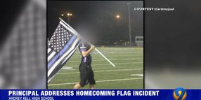 """NC Principal Apologizes for Letting Football Player Honor Fallen SRO with """"Blue Lives"""" Flag"""