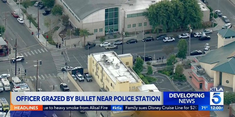 LAPD Officer Shot Driving to Work, Teen in Custody