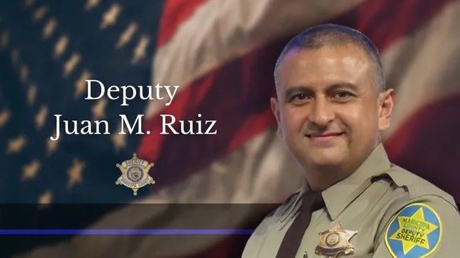 Maricopa County Deputy Juan Miguel Ruiz was beaten in a holding cell. He is on life support until his organs can be donated. (Photo: Maricopa County SO) -
