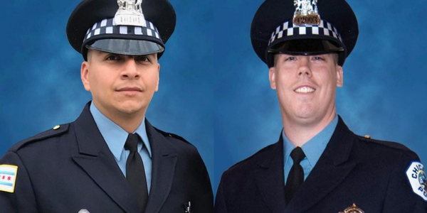 Chicago police officers Eduardo Marmolejo, 36, and Conrad Gary, 31, were killed when they were...