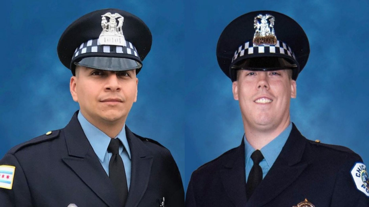 Chicago police officers Eduardo Marmolejo, 36, and Conrad Gary, 31, were killed when they were struck by a train while responding to a call of shots fired, officials said. (Photo: Chicago Police Department)