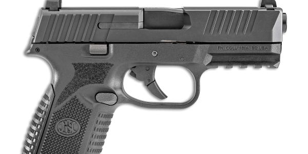 The FN 509 Midsize pistol is chambered in 9mm and features a four-inch slide and barrel, a frame...