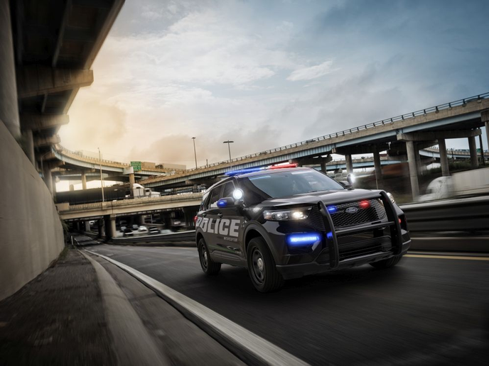 The 2020 Ford Police Interceptor Utility is the first pursuit-rated SUV with a hybrid engine. (Photo: Ford)  -