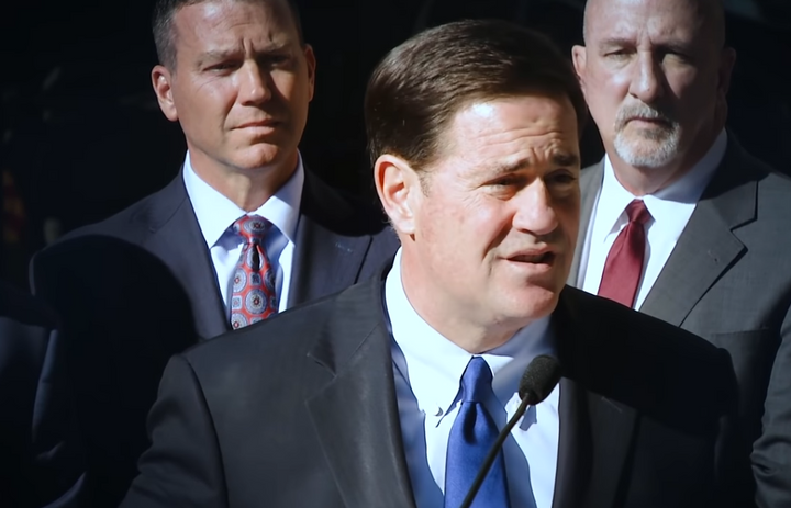 Arizona Gov. Doug Ducey wants to grant pay raises to nearly half of all state employees, with an emphasis on boosting salaries for state law enforcement and corrections officers. (Photo: YouTube screen shot)