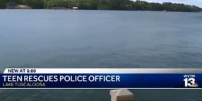 Teenager Rescues Alabama Officer from Lake After Patrol Boat Sinks