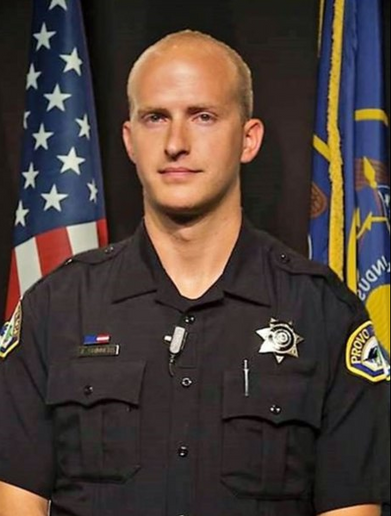 Officer Joseph Shinners of the Provo (UT) Police Department was shot and killed Saturday while trying to arrest a fugitive. (Photo: Provo PD)