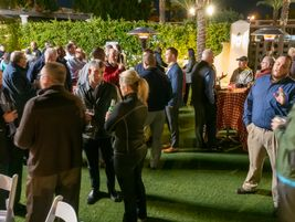 Networking before the second night barbecue at PTX 2019.