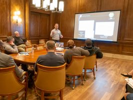In addition to face-to-face meetings suppliers hosts gave group presentations to delegates.