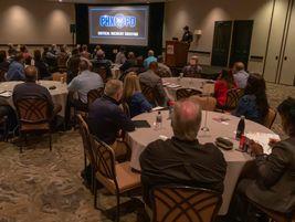 PTX audience listening to Phoenix Police Chief Jeri Williams' breakfast keynote.