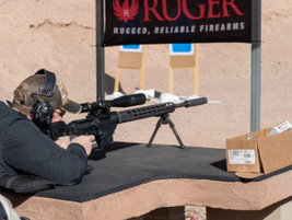 Shooting the Ruger Precision Rifle. (Photo: Michael Hamann)
