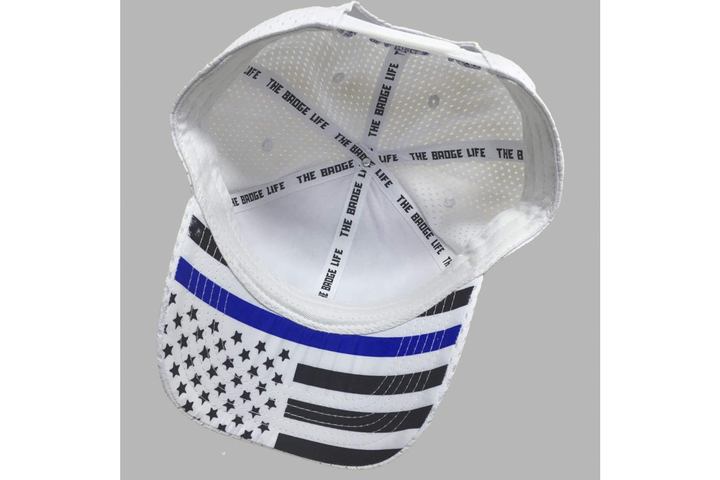 The Badge Life Thin Blue Line Flag Hat