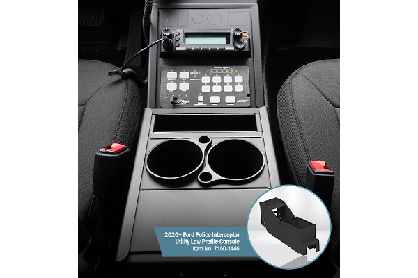 Gamber-Johnson Low-Profile Console for 2020 Ford Police Interceptor Utility - Photo: Gamber-Johnson