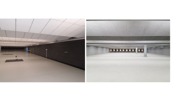 These photos show before and after images of the Portland (OR) Police Department range that Troy...
