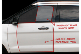 Transparent Armor Window Insert and B-Kit Add-On Door Armor
