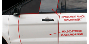 Transparent Armor Window Insert and B-Kit Add-On Door Armor