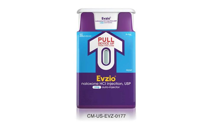 EvzioEvzio (naloxone HCI injection) 2 mg auto-injector  - Photo: Evzio
