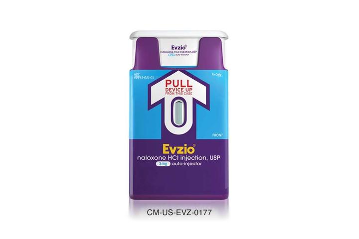 EvzioEvzio (naloxone HCI injection) 2 mg auto-injector  - Photo:Evzio