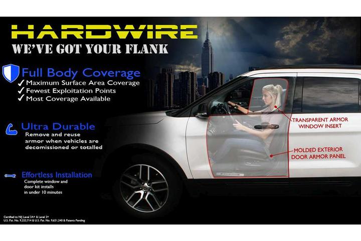 Hardwire LLCHardwire's Add-On Vehicle Armor  - Photo: Hardwire LLC