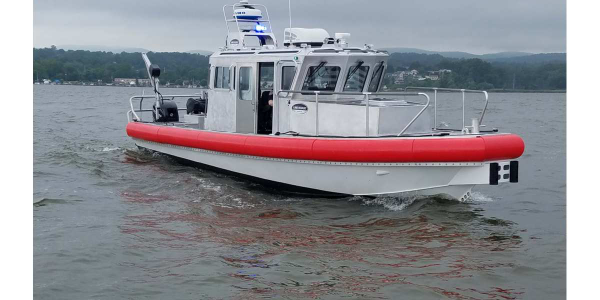 Lake Assault Boats 31-footv essel for the Rockland County (NY) Sheriff's Office Marine Unit