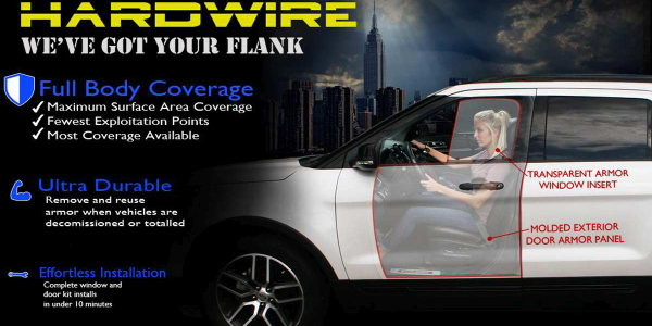 Hardwire LLC Add-On Vehicle Armor
