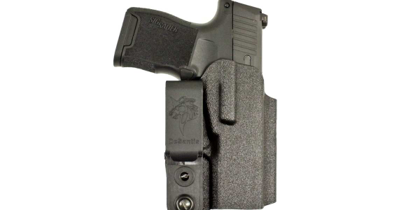 The Slim-Tuk by DeSantis Holster is a minimal ambidextrous IWB Kydex holster.