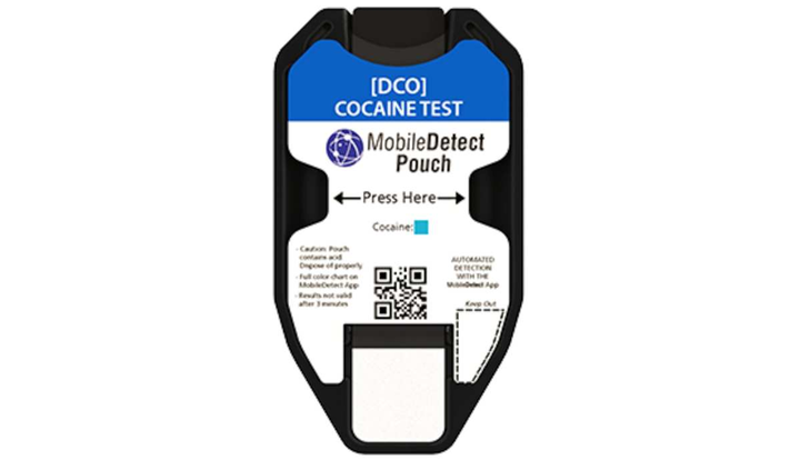 The DetectaChem MobileDetect Pouch's patent pending design allows for trace and bulk detection capabilities using the integrated swab and proven colorimetric reagents.  - Photo: Federal Resources