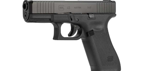 The Glock 45 combines the fast handling of the Glock 19 compact-sized slide with the full-size...