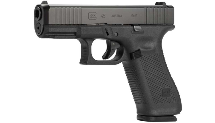 The Glock 45 combines the fast handling of the Glock 19 compact-sized slide with the full-size frame as a compact crossover.  - Photo: Glock