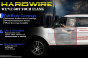 Hardwire'spolice car door and window armorattaches quickly to a vehicle's exterior and fits...