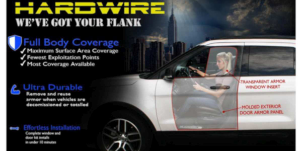 Hardwire's police car door and window armor attaches quickly to a vehicle's exterior and fits...
