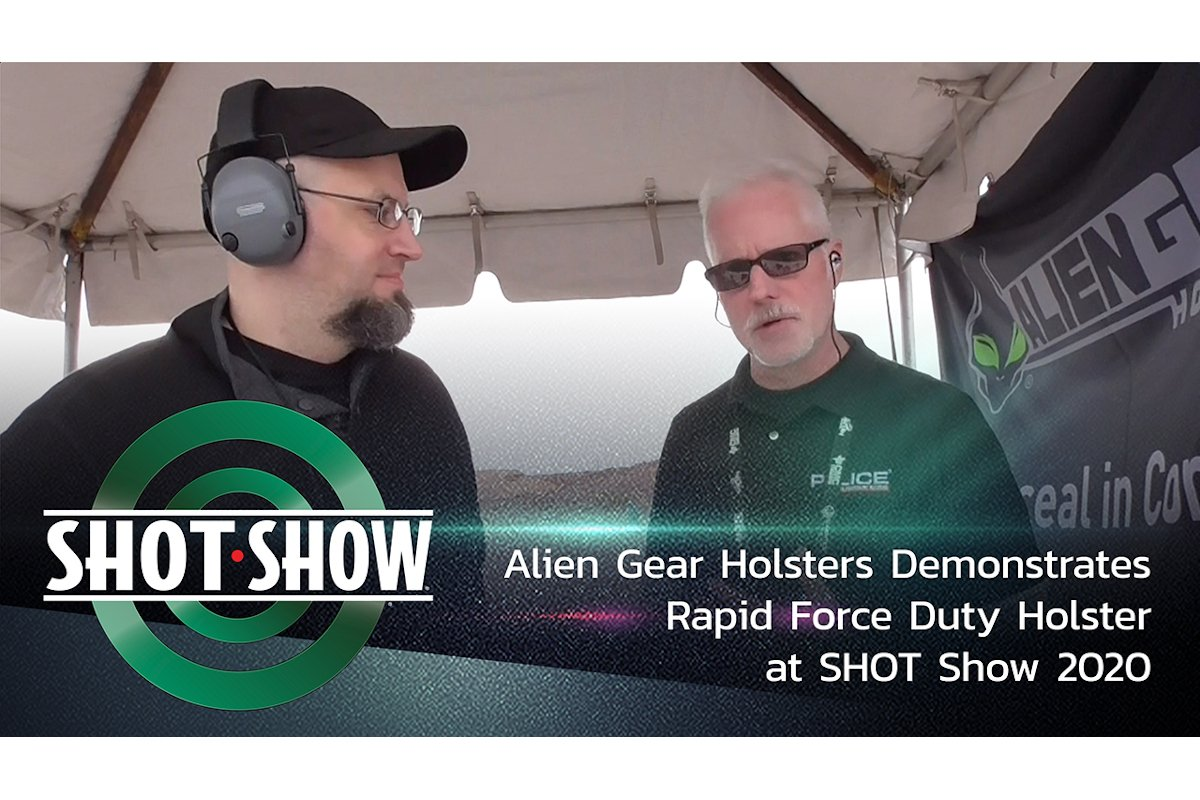 (Video) Alien Gear Holsters Demonstrates Rapid Force Duty Holster at SHOT Show 2020