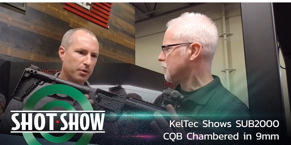 KelTec's SUB2000 CQB chambered in 9mm in the booth at SHOT Show 2020