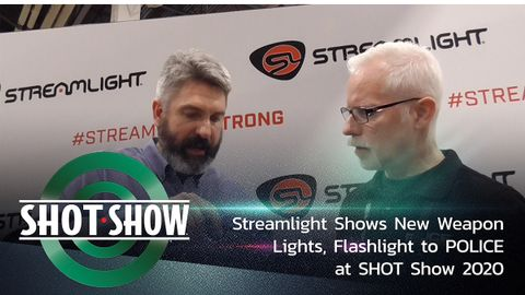 Streamlight shows its new lights to POLICE at SHOT Show 2020.